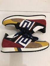 $795 VERSACE Greek Key Running Shoes Men 9.5 EU 42 MADE IN ITALY