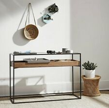 Brand New Industrial Cabinet Media Console Table Includes Storage Living Room
