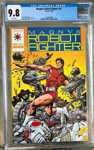 Magnus Robot Fighter #0 (1992) CGC 9.8 -- White pages; Jim Shooter; Valiant