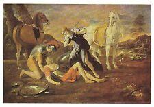 Nicolas Poussin : TANCRED AND ERMINIA Art Card / Postcard - 1986!