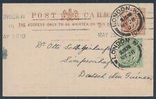 Dt. Neuguinea incoming mail Simpsonhafen Orientierungsmarsch London 1909 (1693)