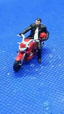 Resin finescale 00 gauge figures/people handpainted motorbike and rider