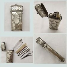 Exceptional C18th Dutch Solid Silver Sewing Etui Necessaire Complete With Tools.