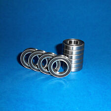 10 Kugellager 6802 / 61802 2RS / 15 x 24 x 5 mm