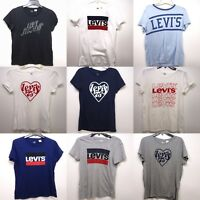 New Levi's Womens Short Sleeve Crewneck Graphic Logo Tee T-Shirts XS-XL