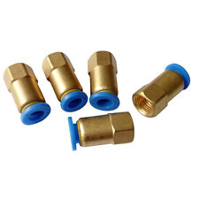 """5 pcs 6 mm Tube Push in Fitting to 1/8"""" BSPT Female Air Pneumatic Connector"""