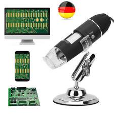 Mini 1600X USB Digital 8 LEDs Mikroskop Lupe Fach Endoskop HD Microscope Kamera