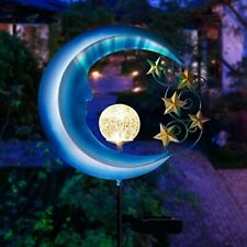 Solar Pathway Moon Stake Outdoor Lights Garden Yard Lawn Decor Patio Art Porch