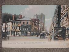 Turks Head & Westminster Str., Providence,, R.I., unused vintage card