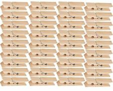 36 pcs Wooden Pegs Weather Resistant Solid Wood Cloth Drying Clip Laundry Airers
