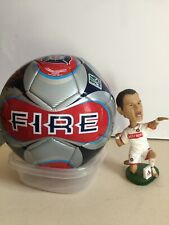 2013 Chicago Fire Autographed Soccer Ball with Blanco Bobblehead