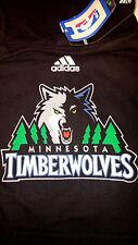 NBA Minnesota Timberwolves Youth Sz 10/12 Grey Majestic Hoodie/Sweatshirt NEW