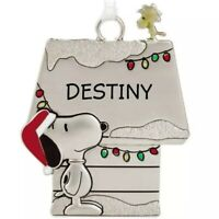 Hallmark DESTINY Peanuts Snoopy and Woodstock Charm Metal Christmas Ornament New