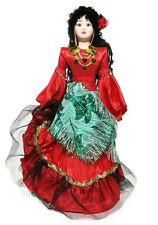 Rada Russian Costume Porcelain Doll. Traditional Folklore Gipsy Dress Ethic Toy
