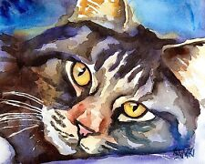 Norwegian Forest Cat 8x10 Art PRINT Signed by Artist Ron Krajewski Painting