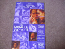The MIRACLE WORKER  Jenny SEAGROVE  Original  COMEDY Theatre Poster