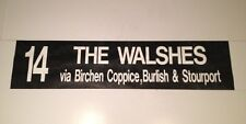 "Midland Red Bus Blind 2 36""- 14 Walshes Via Stourport Burlish Birchen Coppice"