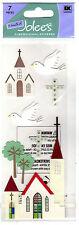 Church Wedding Christian Dove Trees Cross Jolee's 3D Sticker