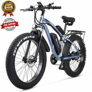 "Electric Bikes Ebike 26"" Front 1000w Fattier Beach Cruiser City Mountain Bicycle"
