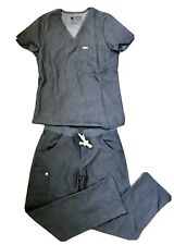 Figs Technical Collection Heather Denim Womens Top (XS) & Bottom (S)