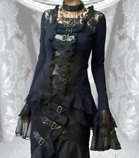 Steampunk Gothic Buckles Lace & Buckle Top