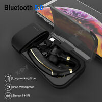 Wireless Bluetooth Headset Earbuds Noise Reduction With charging Box Waterproof