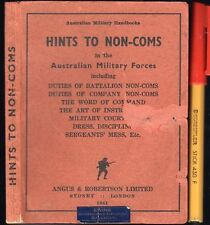 1941 HINTS For NON-COMS in the AUSTRALIAN MILITARY FORCES Non Combatants