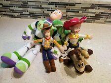 """Toy Story Toy Lot 16"""" Buzz and Rex Jessie Woody Bullseye"""
