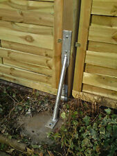 Sturmanker Kyrill aus Stahl verzinkt, Bodenanker, Pfostenhalter, Zaunhalter