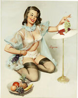 Pin Up Girl Life Art  - VINTAGE ADVERTISING ENAMEL METAL TIN SIGN WALL PLAQUE