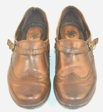 Women's Earth Origins Brown Leather Loafers Slip On Shoes Carma 2 sz. 8.5