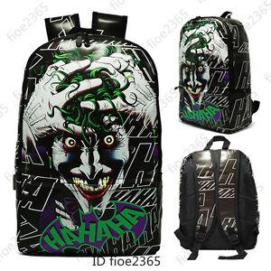 The Joker Backpack Schoolbag Batman PU Knapsack Casual Laptop Bag Travel Bags