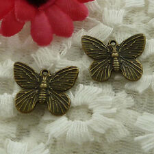 free ship 70 pieces bronze plated butterfly charms 19x14mm #2557
