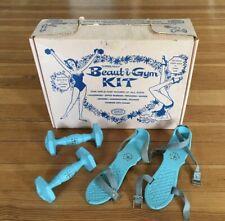 Vintage MCM Beaut-i-Gym WEIDER WEIGHTS Girls Women Dumbbells RARE KIT HOLLYWOOD