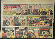 SUPERMAN SUNDAY COMIC STRIP #22 Mar 31, 1940 2/3 FULL Page DC Comics RARE