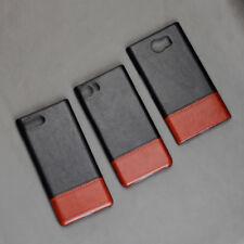 For Blackberry Keyone/Priv/Key2 PU Leather Skin Matte Color PC Hard Case Cover