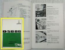Deutz D 5006 Traktor mit F3L 912 Motor Betriebsanleitung 1968 D5006