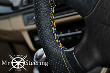 FITS FORD C MAX MK1 03+ PERFORATED LEATHER STEERING WHEEL COVER YELLOW DOUBLE ST