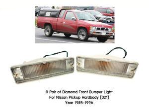 Clear front bumper turn signal light Nissan Navara D21 Hardbody Pickup 85-97