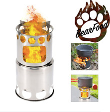 Lightweight Backpacking Stove Titanium BackPacking Wood Stove Camping Stove EDC