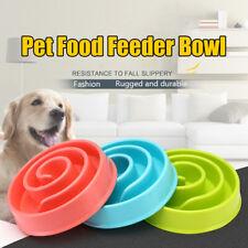 New ListingPet Dog Cat Bowl Interactive Slow Food Feeder Healthy Gulp Feed Dish