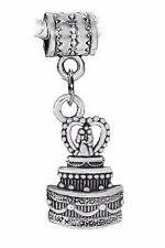 Wedding Cake Bride & Groom Topper Gift Dangle Charm for European Bead Bracelets