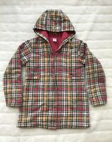EUC Gymboree Girls Size 10 Fall Plaid Lightweight Hooded Jacket Full Zip Hoodie