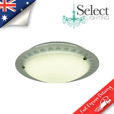 SOLLE, 21watt LED Round Ceiling Oyster Light, Frosted Glass, ON SALE!