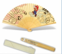 Folding Hand Fan SENSU Super Mario Bros Club Nintendo Japan import