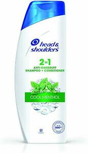 Head & Shoulders 2-in-1 Shampoo + Conditioner, Cool Menthol 180ml FREE Shipping