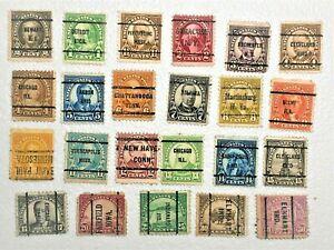 U S Collection of 23 PRECANCEL 1922-34 issue
