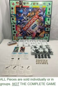 U-PICK 2008 Monopoly Star Wars The Clone Wars Game Replacement Pieces Parts