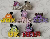 Monsters University 2019 Hidden Mickey Set Greek Letters Choose a Disney Pin