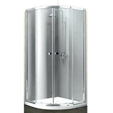 Box doccia semicircolare angolare ad angolo rotondo scorrevole trasparente 80x80